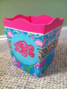 Personalized Wastebasket by mcleansa on Etsy, $28.00