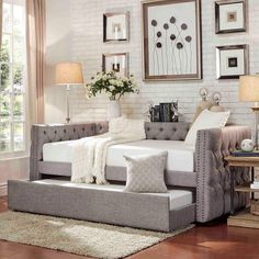 Knightsbridge Tufted Nailhead Chesterfield Daybed and Trundle by iNSPIRE Q Artisan   Overstock.com Shopping - The Best Deals on Kids' Beds