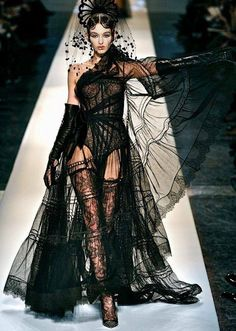 Elegance in Darkness — spookyloop: Jean Paul Gaultier, Spring/Summer...