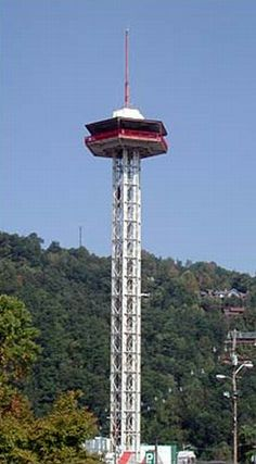 Gatlinburg Space Needle. Spend the day in Gatlinburg then stay in a Gatlinburg Cabin with Fireside Chalets.