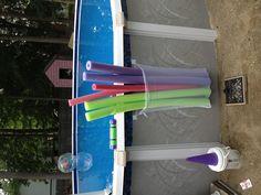 Garden Types, Pool Organization, Pool Storage, Above Ground Pool Landscaping, Pool Hacks, Intex Pool, Backyard Play, Pool Cleaning, Cool Pools