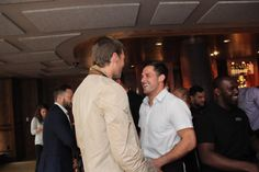 TB12 is one of 20-plus teammates supporting @DannyAmendola & #catchesforkids Celebrity Waiter Night.