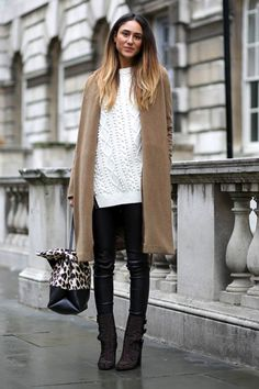 Soraya Bakhtiar - Camel Coat & Cable Knit #style #fashion #streetstyle #celine #london