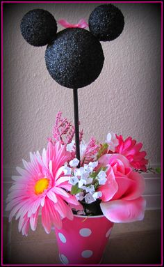 minnie mouse flower center piece
