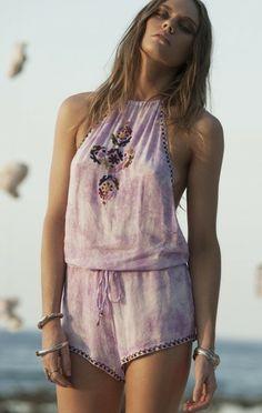 She Made Me Shila Embroidered Jumpsuit   Crochet Bikinis   Nic del Mar  Nicdelmar.com