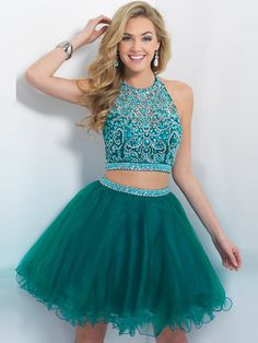 2015 Style A-line Scoop Short/Mini Tulle Homecoming Dresses/Cocktail Dresses #MH894