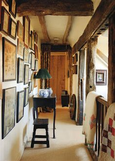 Inside home of sampler dealer Erna Hiscock featured in English Home mag