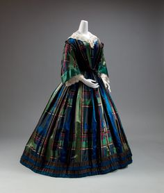 """Plaid Petticoats: """"The Glare and Glitter is Brutal"""": Chemical Dyes and Plaids of the Mid-19th Century"""
