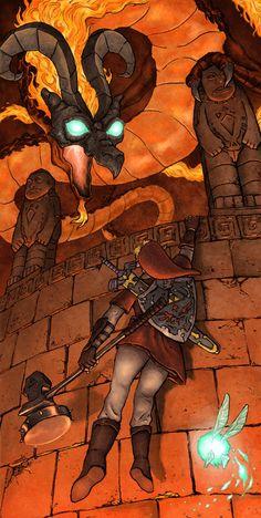 Ocarina of Time - Link vs Volvagia  by ~TheStealthNinja13 (DeviantArt)