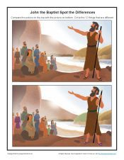 John the Baptist Spot the Differences Activity for Kids