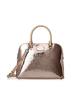 bb73725cc3d0 Michael Kors Cindy Large Dome Signature Satchel NICKEL    Click image for  more details. (This is an Amazon affiliate link)