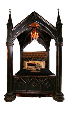 """Cathedral Bed"" designed by Nelson J. Nelson {crafted by Emanuel Design Group,  2010}"