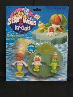 Vtg 1982 Sea Wees Kenner Icy-gals Featuring Shelly, Baby Pearl, Shivers NIP #DollswithClothingAccessories