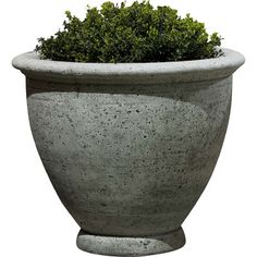 Campania International, Inc Round Pot Planter Size: Large, Finish: Brownstone