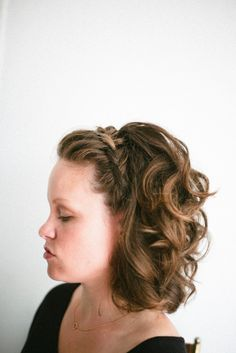 Braid for short hair: http://www.stylemepretty.com/living/2015/01/29/a-perfectly-chic-braided-bun/