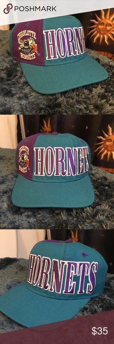 6611bb2836e VINTAGE STARTER CHARLOTTE HORNETS SNAPBACK Size  OS (adjustable) In  excellent condition! Serious