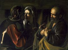Caravaggio's The Denial of St Peter, a haunting example of narrative in art, like a graphic novel, in a way.