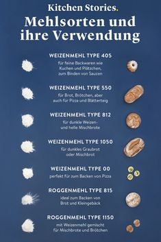 Flour Type 405 550 and 1050 all types of flour at a glance! How To Thicken Sauce, Salve Recipes, Types Of Flour, Brown Bread, Kitchen Stories, Baking Flour, Lemon Recipes, Pastry Recipes, Bread Rolls