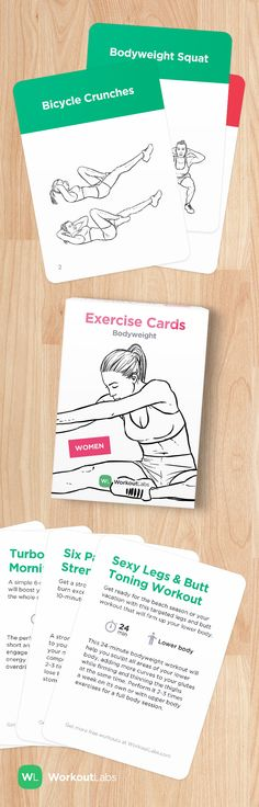 Enjoy simple quick no-equipment workouts anywhere anytime with these beautiful Exercise Cards: http://WLshop.co