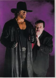 The Undertaker and Paul Bearer Retro Promo Shots.