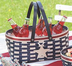 Keep beverages nice and cold in this special Memorial Day themed basket