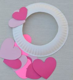 Kids can help decorate for Valentine's Day with this paper plate heart wreath craft. day crafts for kids diy Paper Plate Valentine's Day Heart Wreath Craft Valentine's Day Crafts For Kids, Valentine Crafts For Kids, Valentines Day Activities, Valentines Day Decorations, Holiday Crafts, Heart Decorations, Valentines Crafts For Kindergarten, Crafts For Children, Simple Crafts For Kids