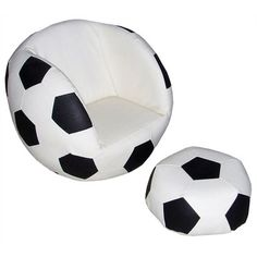 ore furniture soccer sports kids novelty chair and ottoman