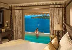 Sunset Bluff Honeymoon Oceanfront One Bedroom Butler Villa Suite with Private Pool overlooking the Caribbean Sea | Sandals Resorts | St. Lucia