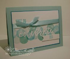 Stampin' Up! Happy Celebrations stamp set, Celebrations Duo Embossing Folder, Stampin' Studio