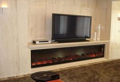 faux fireplace with tv stand - Google Search