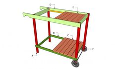 Grill Cart Plans | Free Outdoor Plans - DIY Shed, Wooden Playhouse, Bbq, Woodworking Projects