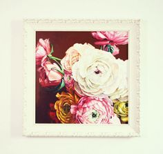 Acrylic Painting Peonies by LesjaArt on Etsy