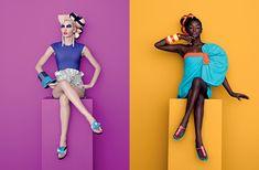 Fashion Editorial for Melissa shoes Pop Art Fashion, Fashion Poses, Fashion Studio, Creative Photography, Portrait Photography, Fashion Photography, Figure Photography, Color Photography, Photoshoot Themes