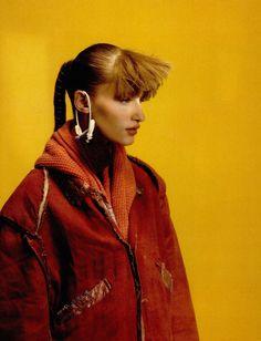 "dazedarchives: "" Dazed, December 2003 ""Salvaged"" photographer: Cedric Buchet fashion: Tal Brener model: Linda Vojtova """