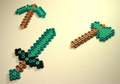 minecraft thingys to make for his party -- keychains maybe :)