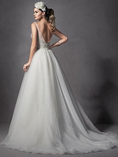 Forsythia Wedding Dress by Maggie Sottero | back
