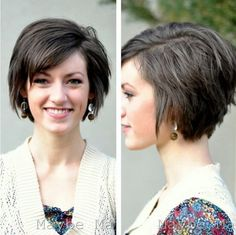 Short hairstyles for women with straight hair