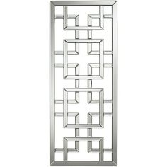 Refresh your interior space with this rectangular wall mirror. This geometric openwork design is inspired by traditional latticework on Asian screens. Window Grill Design Modern, Balcony Grill Design, Grill Door Design, Balcony Railing Design, Door Gate Design, Window Design, Steel Gate Design, Balustrades, Metal Screen