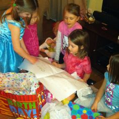 A birthday slumber party with 7 giggly screaming girls - you know that was crazy!!