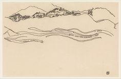 Landscape with Houses, Egon Schiele