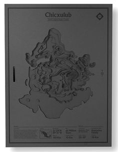 Chicxulub – part of a series of topographic maps commemorating the world's largest impact craters, by designer Nicholas Weltyk