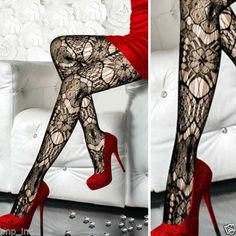 Floral Eye Lace Tattoo Sheer Sexy Stockings Tights Detailed Fishnet Pantyhose OS in Clothing, Shoes & Accessories, Women's Clothing, Hosiery & Socks, Pantyhose & Tights   eBay