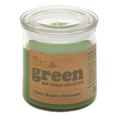 Green Bamboo Soy Candle Jar