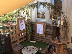 The Little Learners Approach – showing children where to look but not what to see – Reggio approach - Kinderbetreuung Outdoor Learning Spaces, Outdoor Play Areas, Outdoor Art, Eyfs Outdoor Area Ideas, Outdoor Life, Outdoor Living, Preschool Garden, Preschool Rooms, Outdoor Classroom