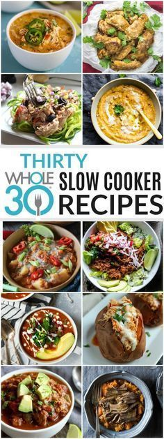 30 Slow Cooker recipes for your Whole30 and beyond! | Whole30 crockpot recipes | slow cooker recipes Whole30 | healthy slow cooker recipes | healthy crockpot recipes | crockpot recipes Whole30 | Whole30 meal ideas | Whole30 dinner recipes || The Real Food Dietitians