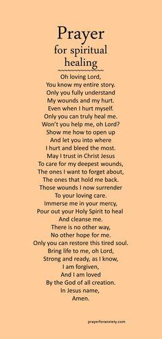 Prayer for spiritual healing – Prayer For Anxiety Prayer Scriptures, Bible Prayers, Faith Prayer, God Prayer, Prayers For Hope, Bible Verses, Prayers Of The Faithful, Prayer For Discernment, Prayer For Enemies