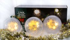Stay Off the Roof Christmas Star Jumbo Sphere LED Lights Set - 10 ft Lighted Length, Connect up to 90 Sets - Warm White - Indoor/Outdoor Use, Pack of 3