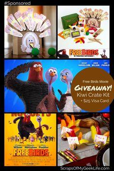 Free Birds Movie & Kiwi Crate Turkey Kit Giveaway #FreeBirds #Spon