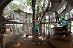 Children cheerfulness in unique sphere living design of Fuji Kindergarten by Tekuza Architects
