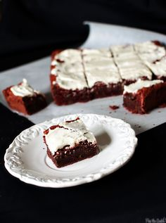 red velvet brownies.